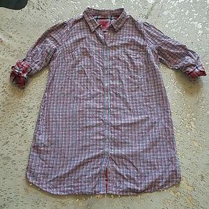 Eshakti Plaid Shirt Dress Sz 3X (24W)